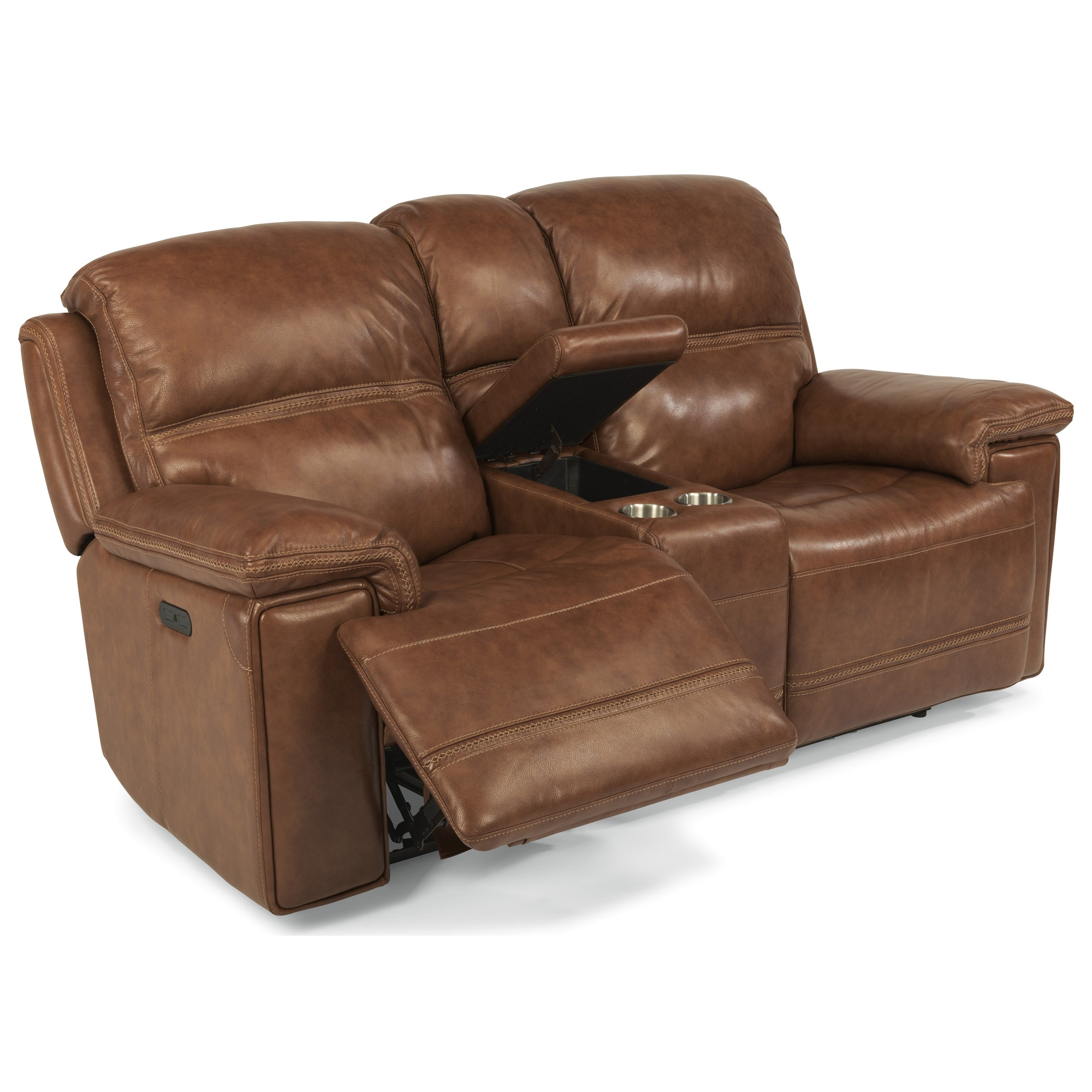 Flexsteel Sofa Locations: Flexsteel Latitudes-Fenwick Power Reclining Loveseat With