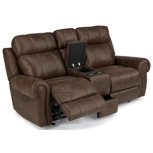 Flexsteel Latitudes-Forrest Power Reclining Glider Love Seat