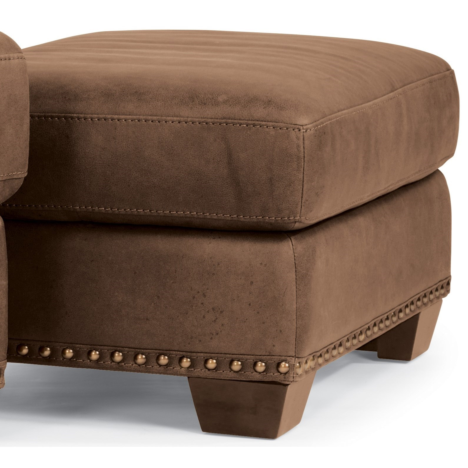 Flexsteel Latitudes-Fremont Leather Ottoman  - Item Number: 1324-08