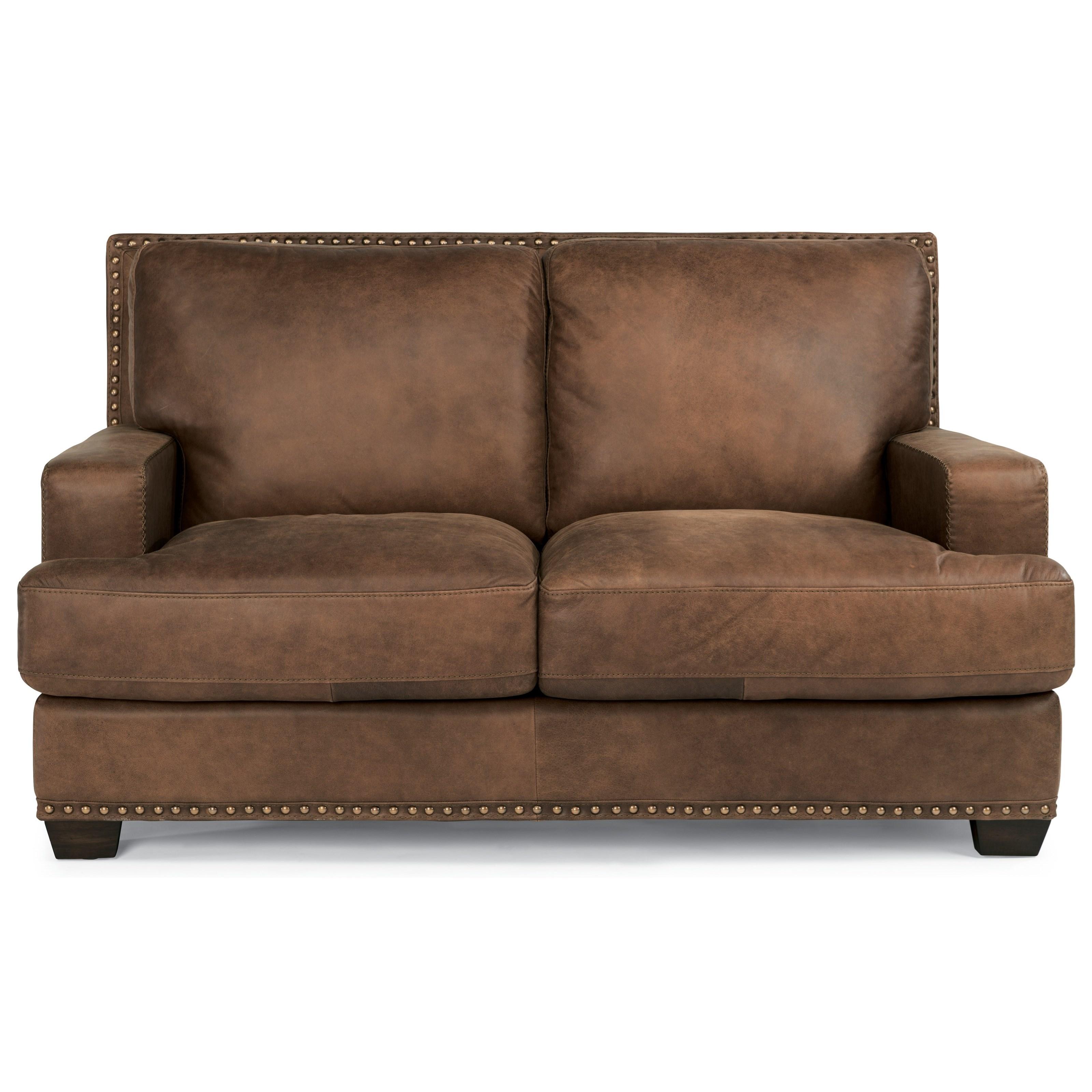 Flexsteel Latitudes-Fremont Leather Loveseat  - Item Number: 1324-20
