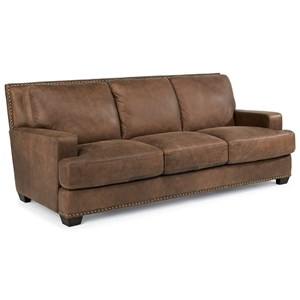 Flexsteel Latitudes-Fremont Leather Sofa
