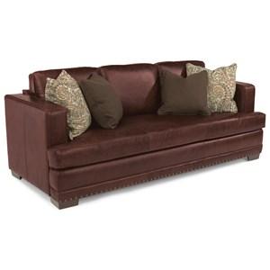 Flexsteel Latitudes-Fulbright Leather Sofa