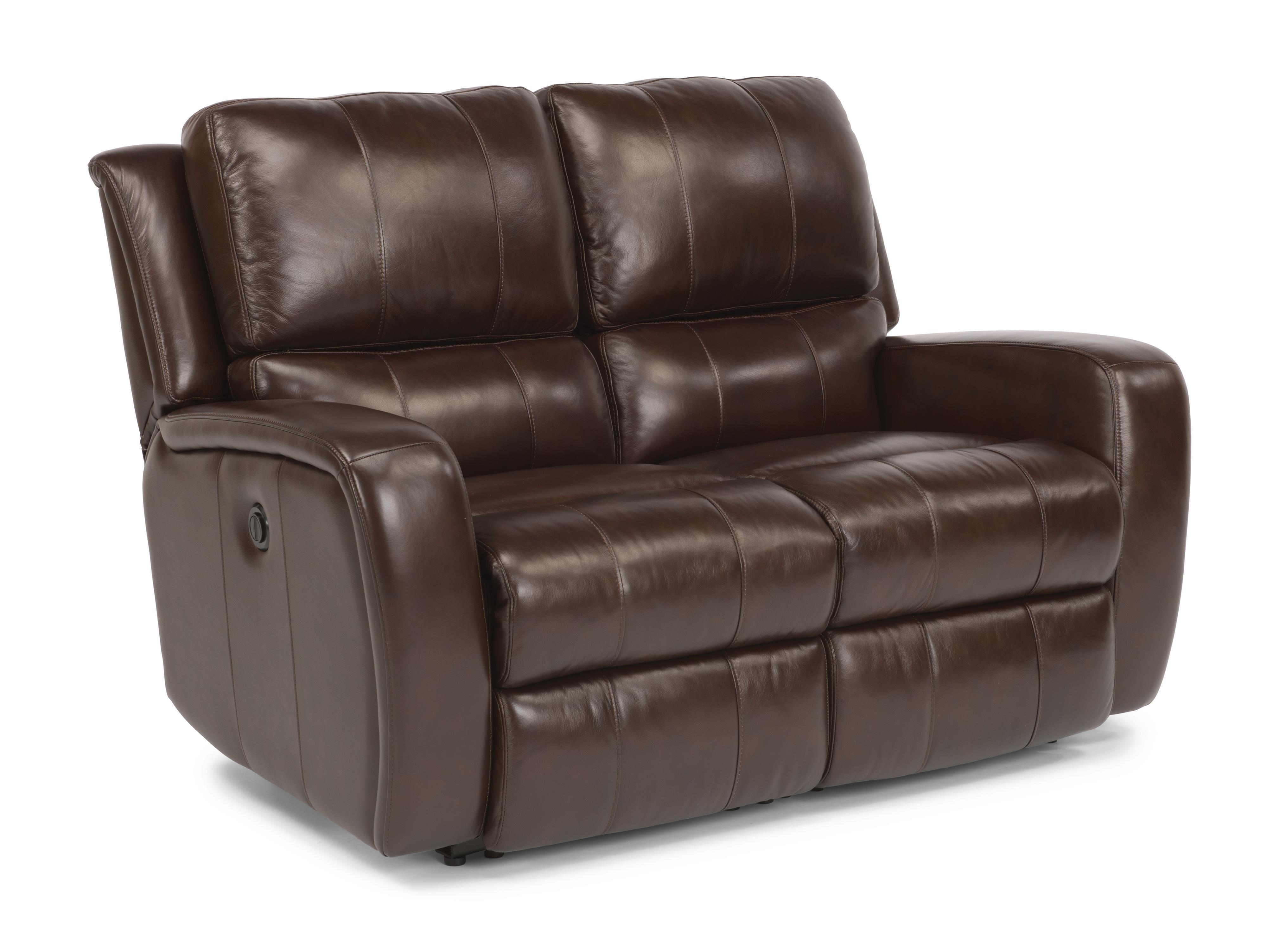 Flexsteel Latitudes-Hammond Reclining Love Seat w/ Power - Item Number: 1157-60P-555-72