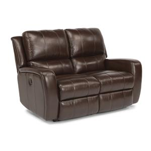 Flexsteel Latitudes-Hammond Reclining Love Seat w/ Power