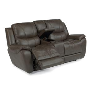 Flexsteel Latitudes - Hilliard Power Reclining Loveseat w/ Console