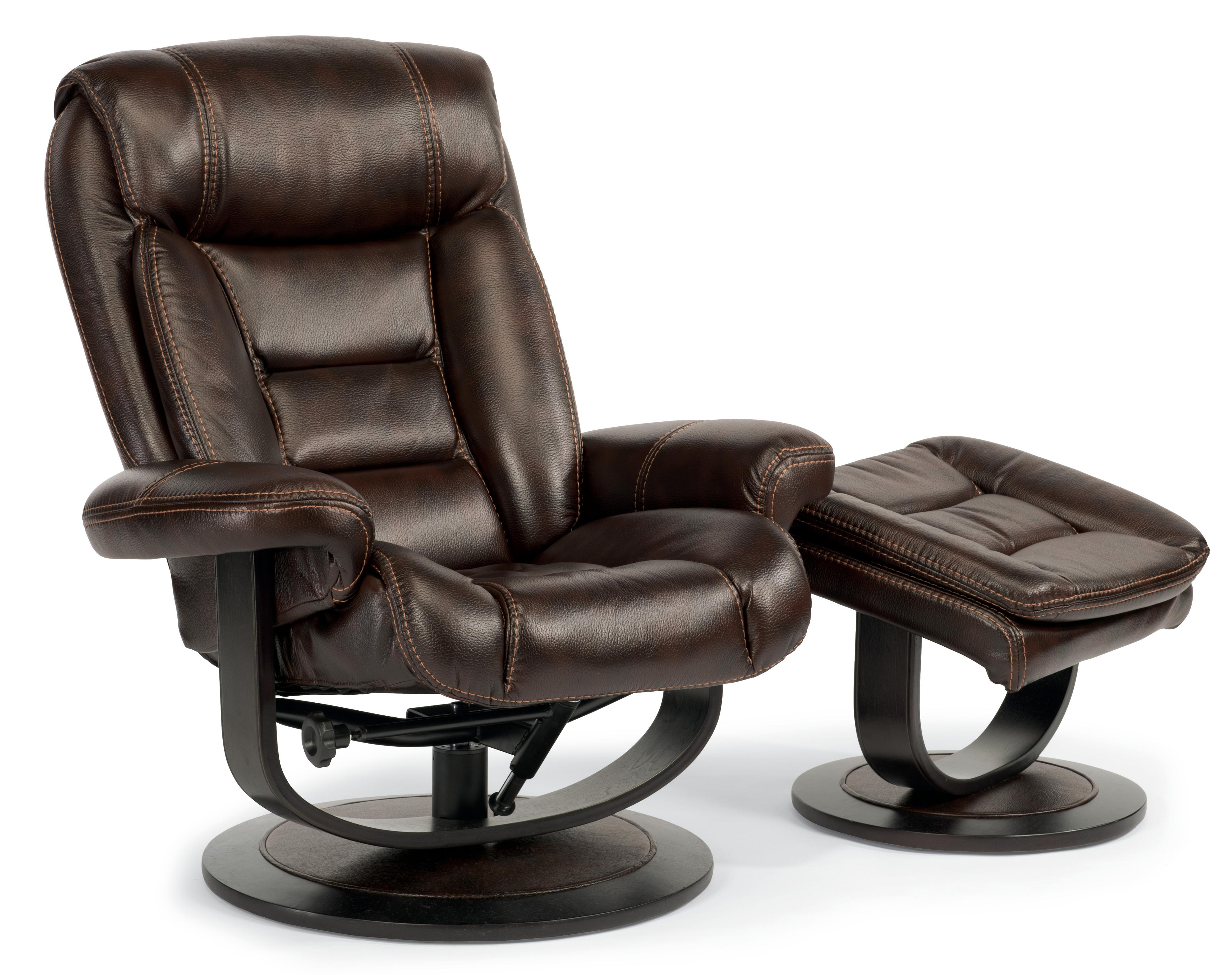 Flexsteel Latitudes-Hunter Reclining Chair and Ottoman Set - Item Number: 1454-CO-580-70