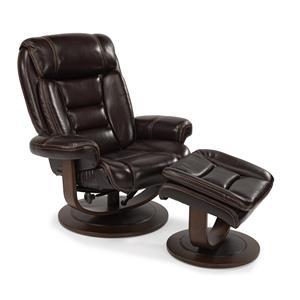 Flexsteel Latitudes-Hunter Reclining Chair and Ottoman Set