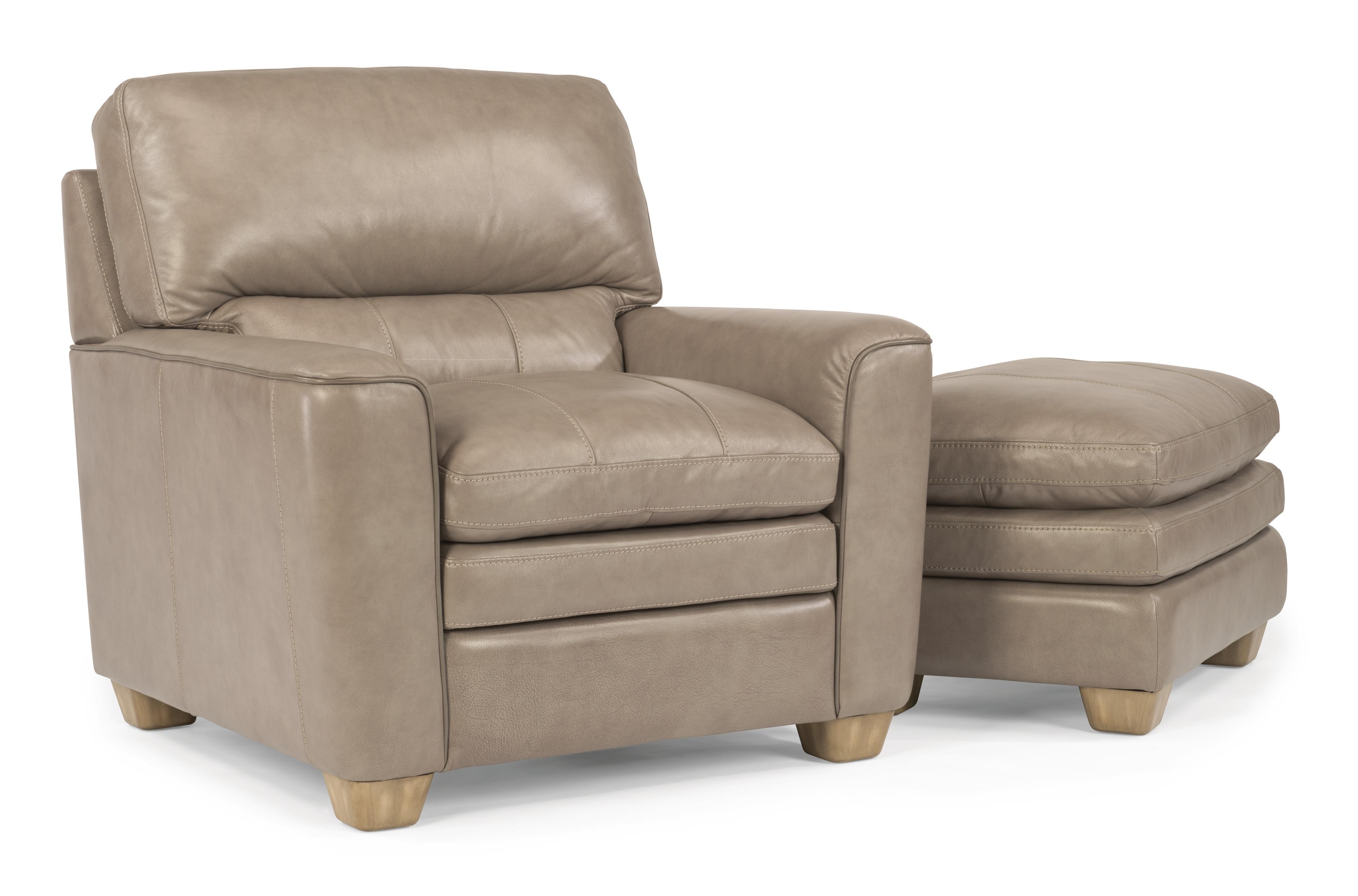 Flexsteel Latitudes-Ivy Chair & Ottoman Set - Item Number: 1304-10+1304-08-739-01