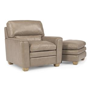 Flexsteel Latitudes-Ivy Chair & Ottoman Set