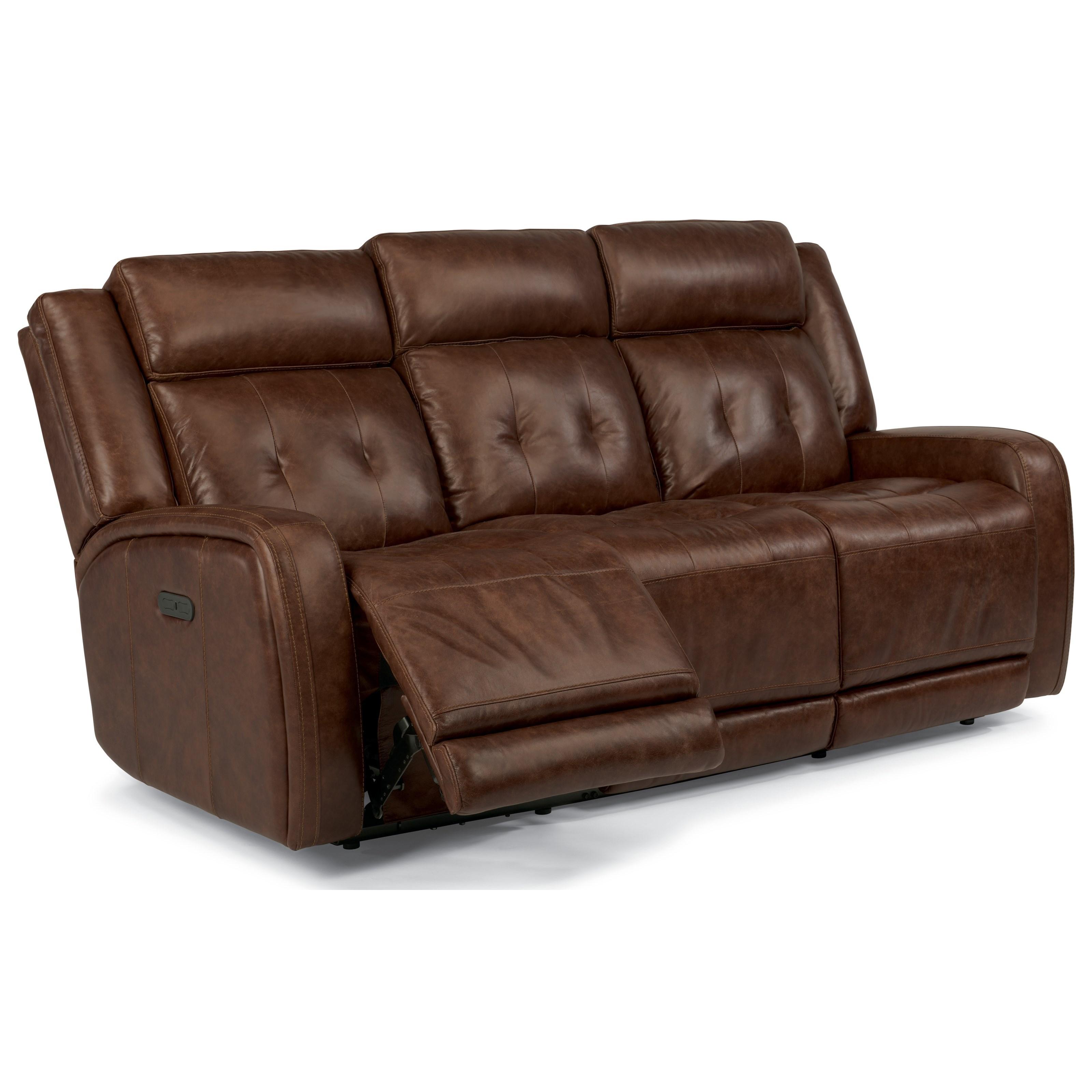Flexsteel Latitudes Jude Power Reclining Sofa with Adjustable