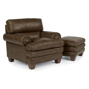Flexsteel Latitudes-Leighton Chair and Ottoman