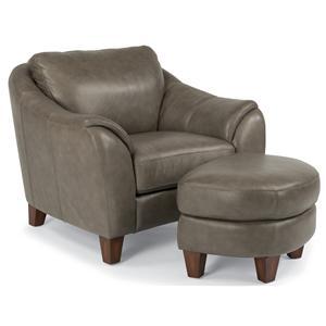 Flexsteel Latitudes-Lidia Chair & Ottoman Set