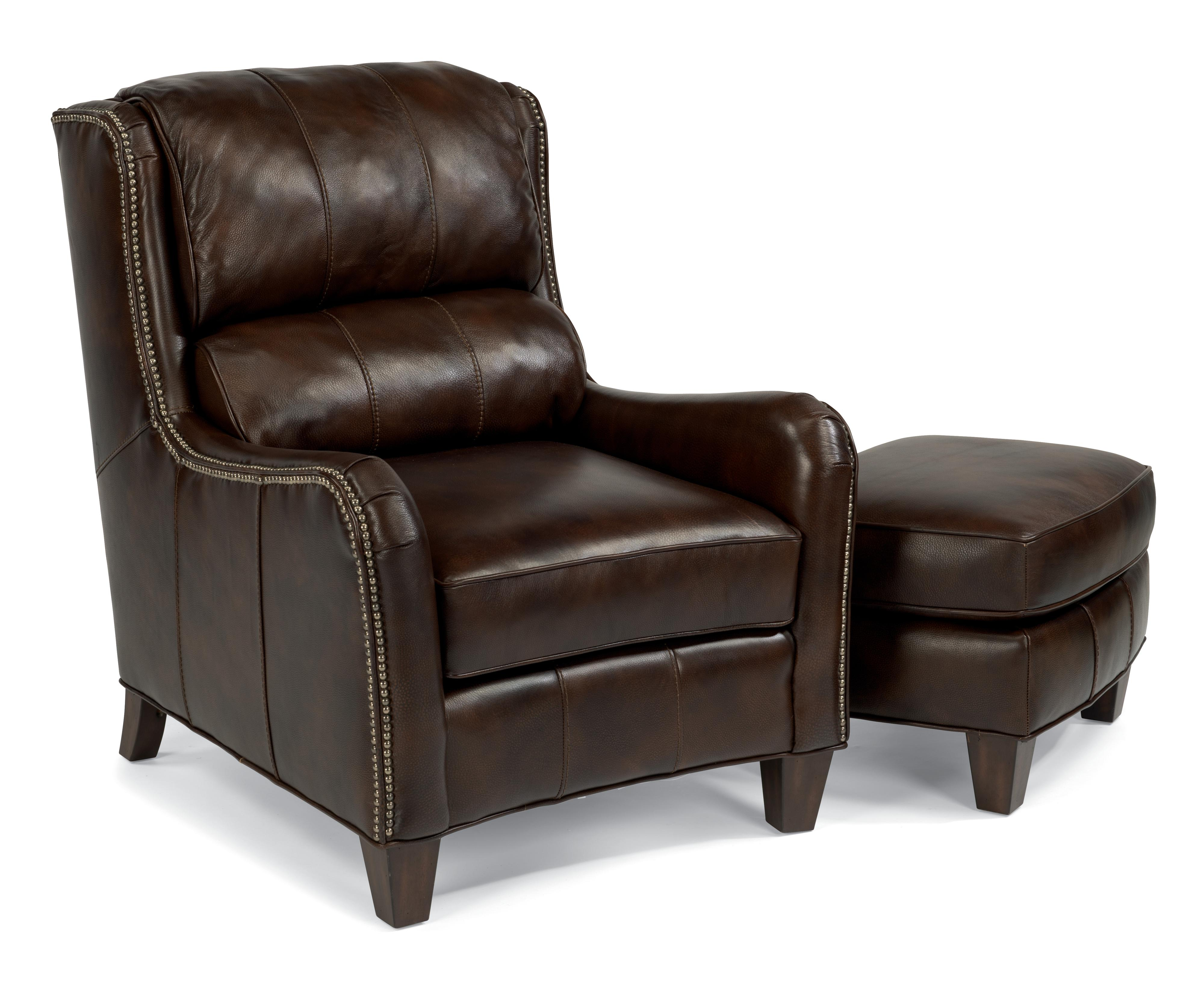 Flexsteel Latitudes-Lukas Chair and Ottoman - Item Number: 1136-10+1136-08-418-76