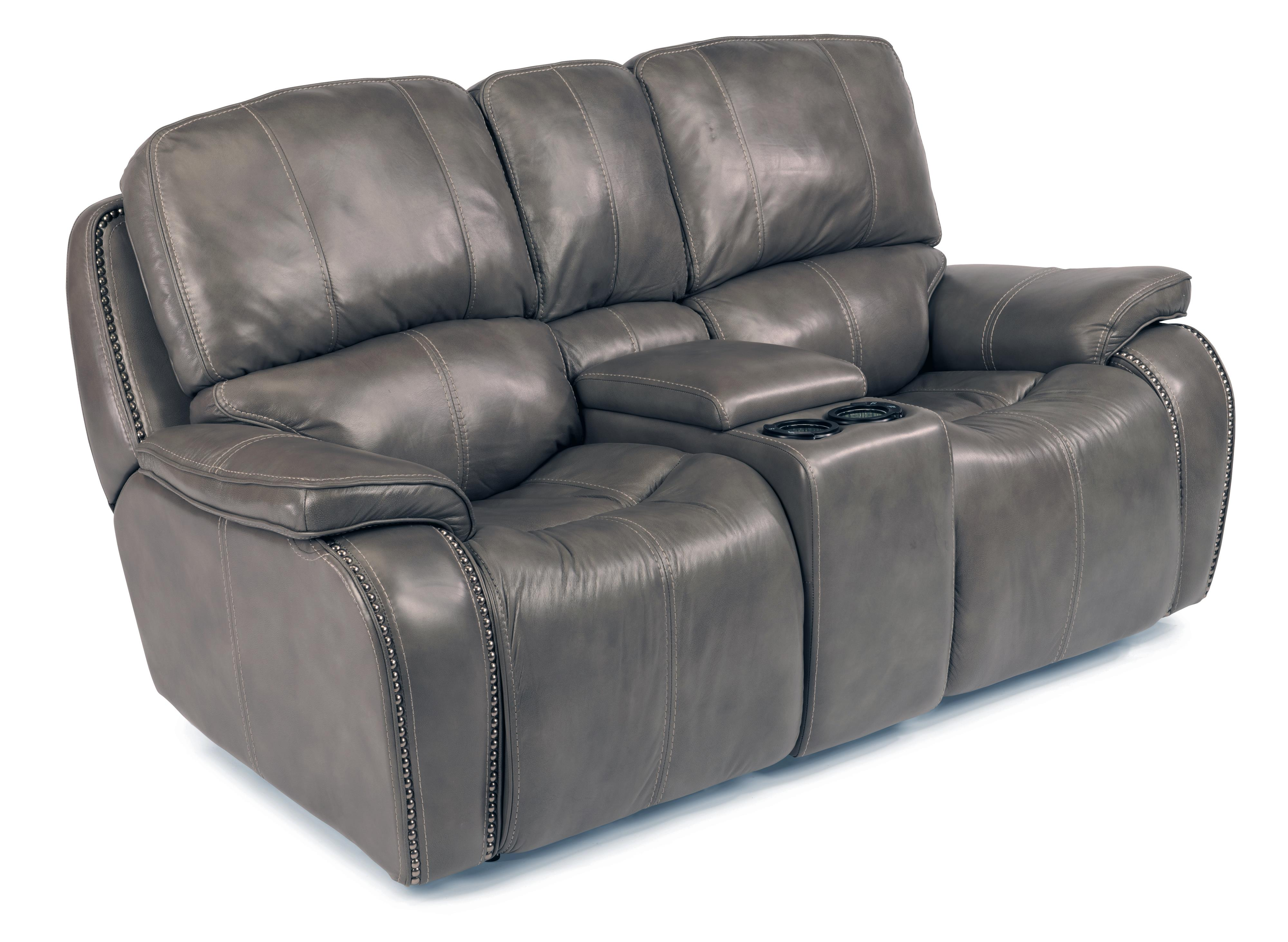 Flexsteel Latitudes-MacKay Power Reclining Loveseat with Console - Item Number: 1617-604P-014-07