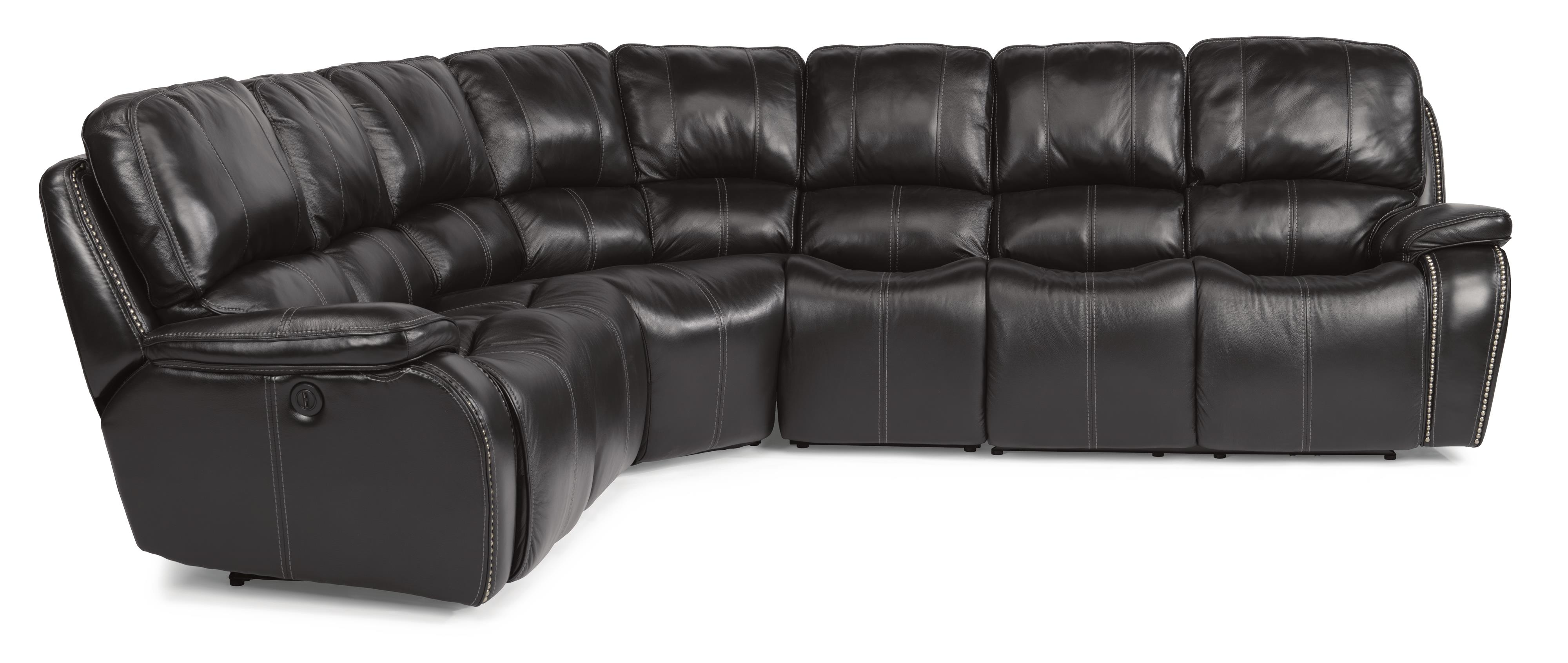 Flexsteel Latitudes-MacKay 4 Pc Power Reclining Sectional Sofa - Item Number: 1617-65P+19+23+66P-014-03LV
