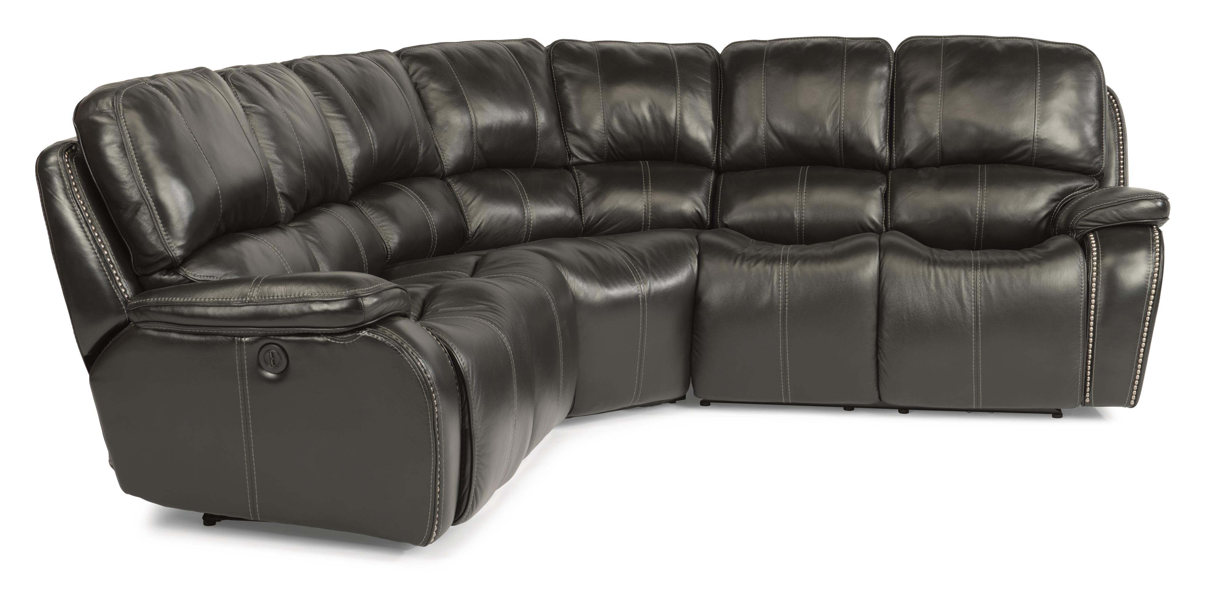 Flexsteel Latitudes-MacKay 3 Pc Power Reclining Sectional Sofa - Item Number: 1617-65P+23+66P-014-03LV