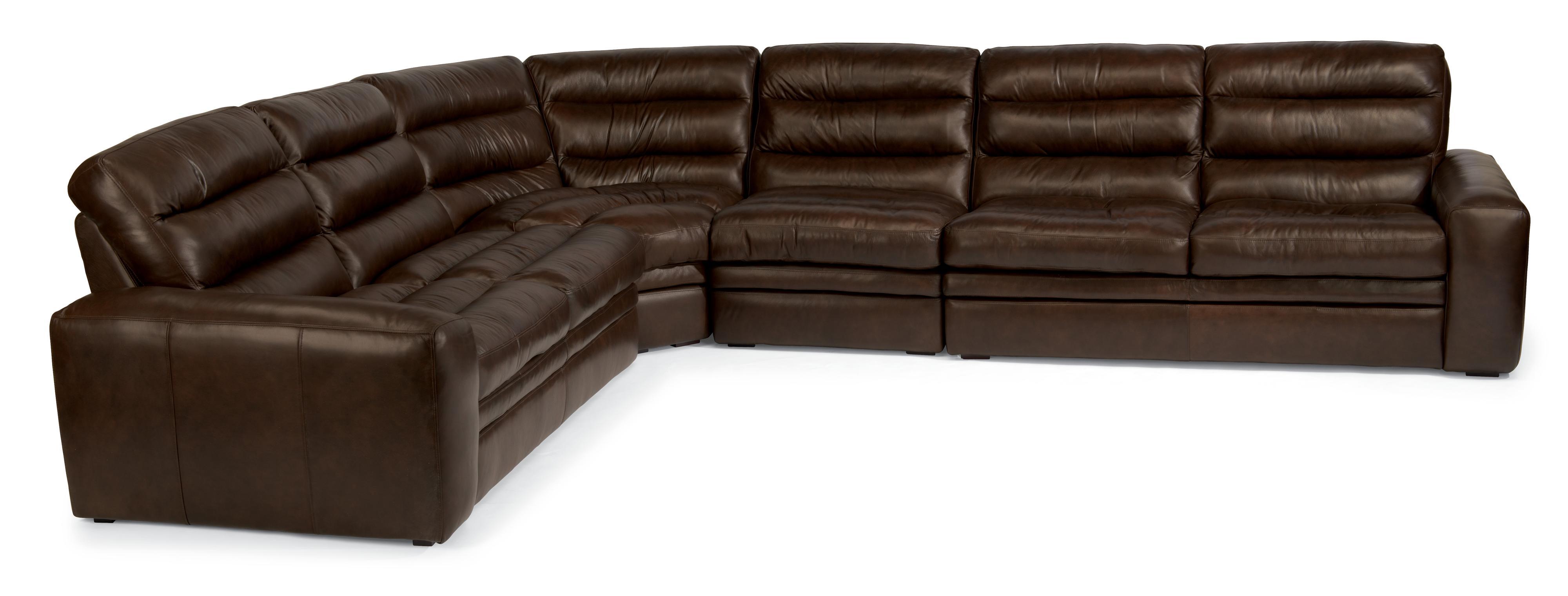 Flexsteel Latitudes - Mariah 5 Pc Sectional Sofa - Item Number: 1451-27+2x19+1451-23+1451-28-740-70