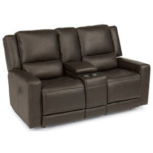 Flexsteel Latitudes-Mason Power Reclining Love Seat with USB Ports