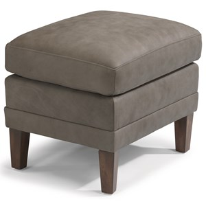 Flexsteel Latitudes-Max Leather Ottoman