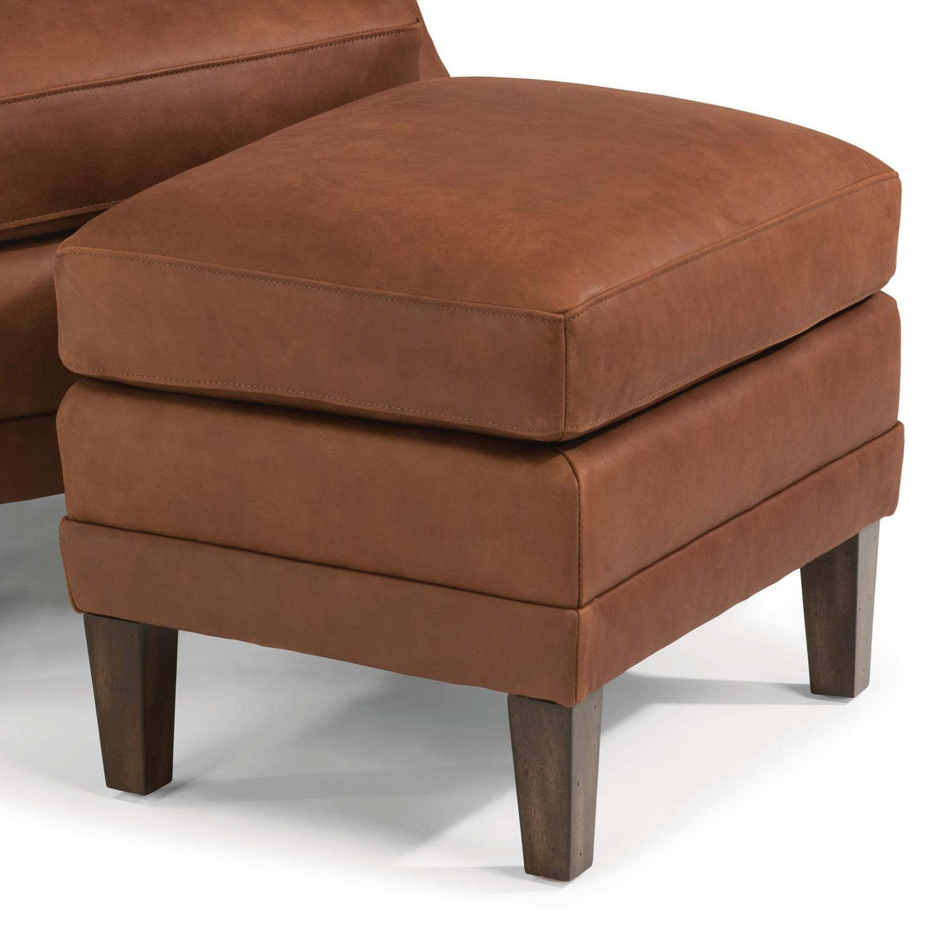 Flexsteel Latitudes Max Contemporary Leather Ottoman With