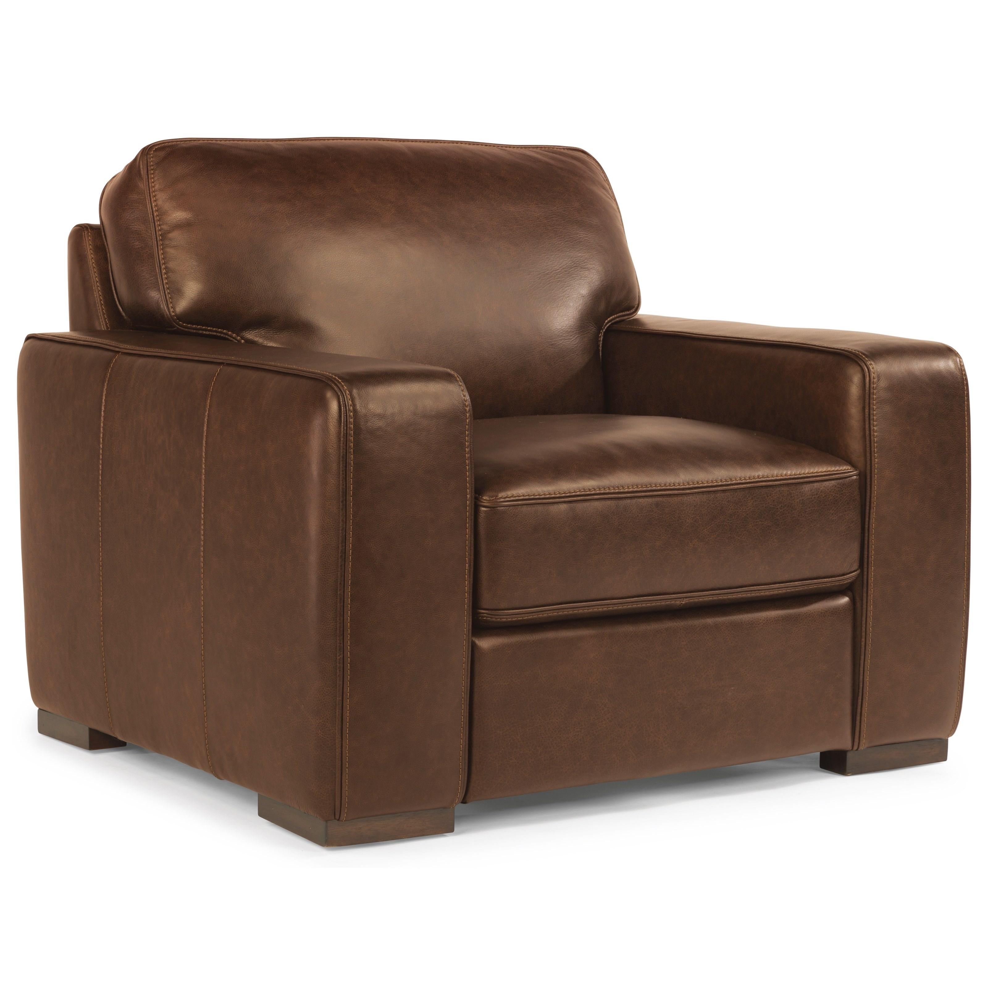 Flexsteel Latitudes-Mckinley Leather Chair  - Item Number: 1349-10