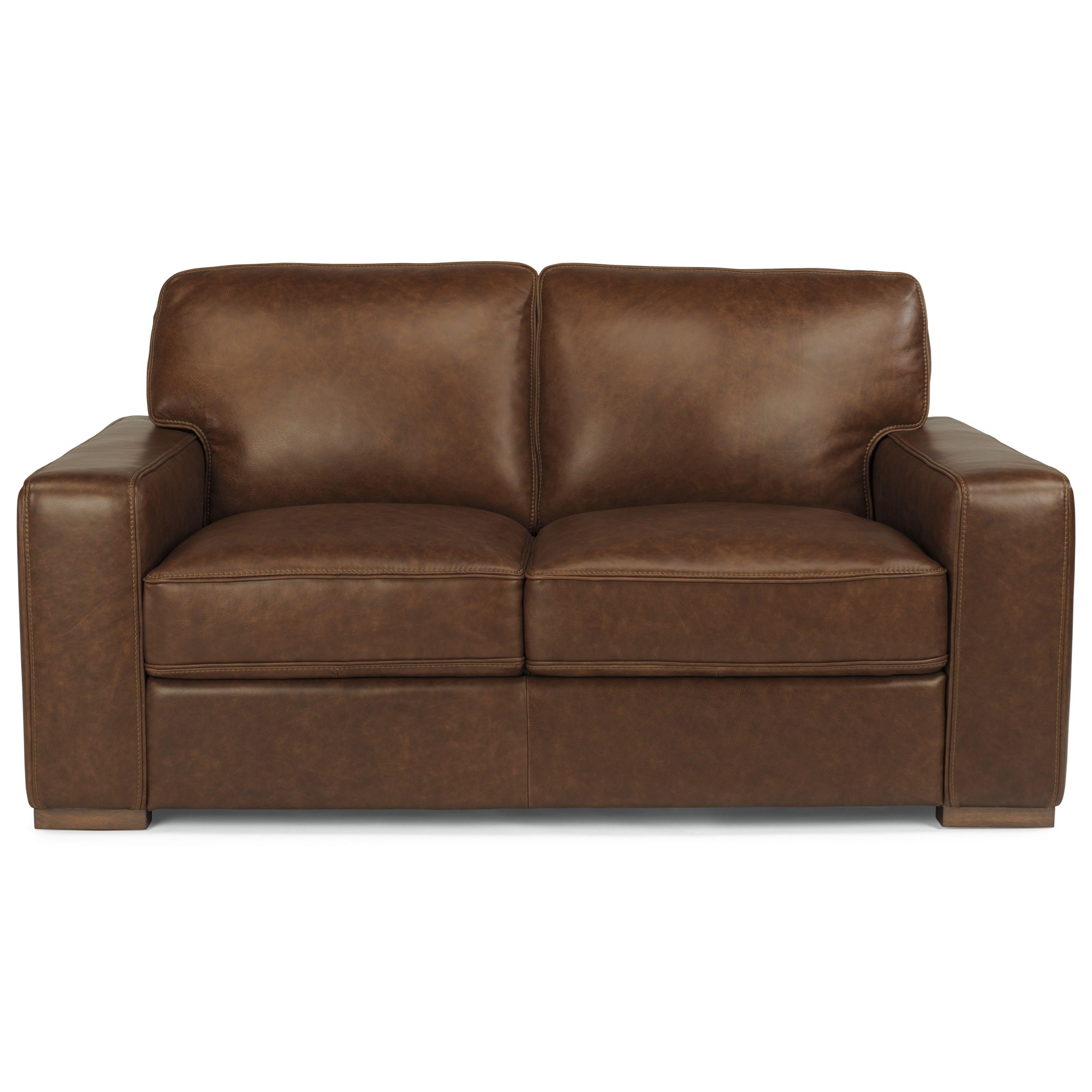Flexsteel Latitudes-Mckinley Leather Loveseat  - Item Number: 1349-20