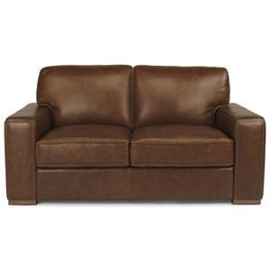Flexsteel Latitudes-Mckinley Leather Loveseat