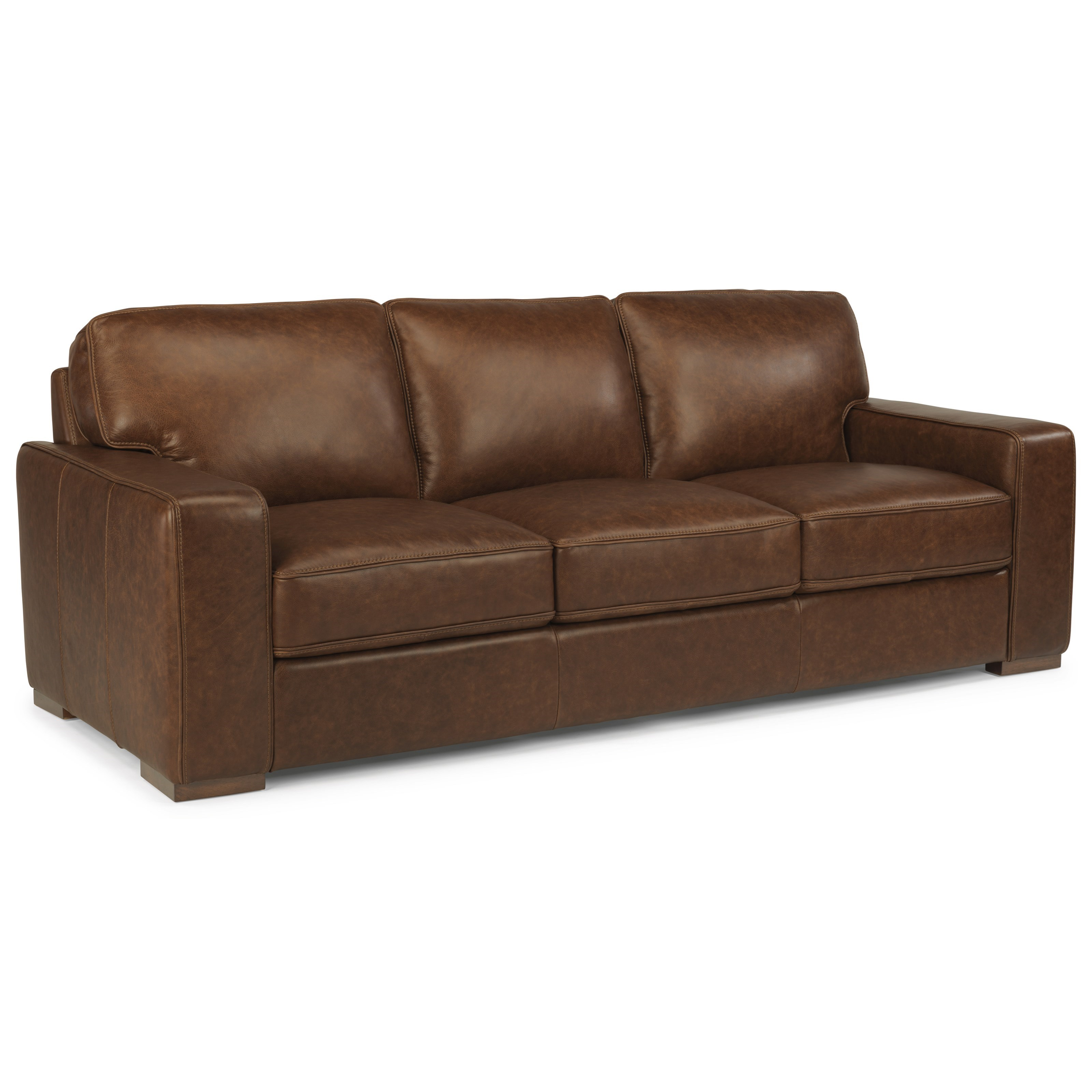 Flexsteel Latitudes Mckinley Contemporary Leather Sofa Dunk