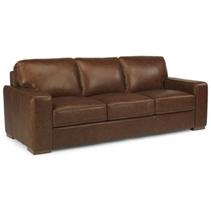 Flexsteel Latitudes-Mckinley Leather Sofa