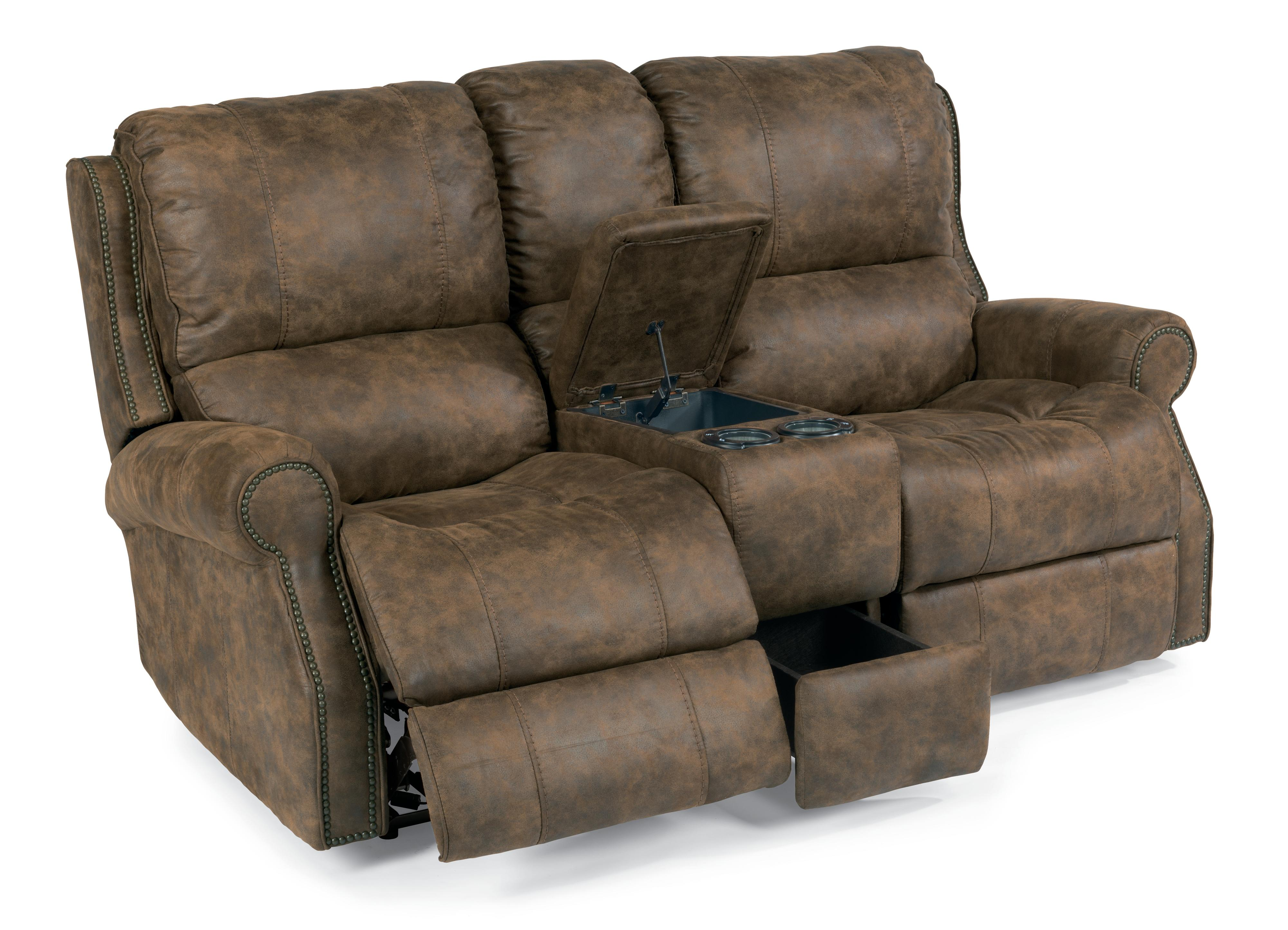 Flexsteel Latitudes-Miles Power Reclining Loveseat with Console - Item Number: 1532-604P