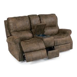 Flexsteel Latitudes-Miles Power Reclining Loveseat with Console