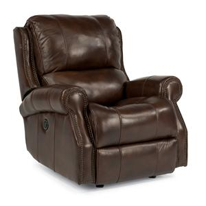 Flexsteel Latitudes-Miles Power Glider Leather Recliner