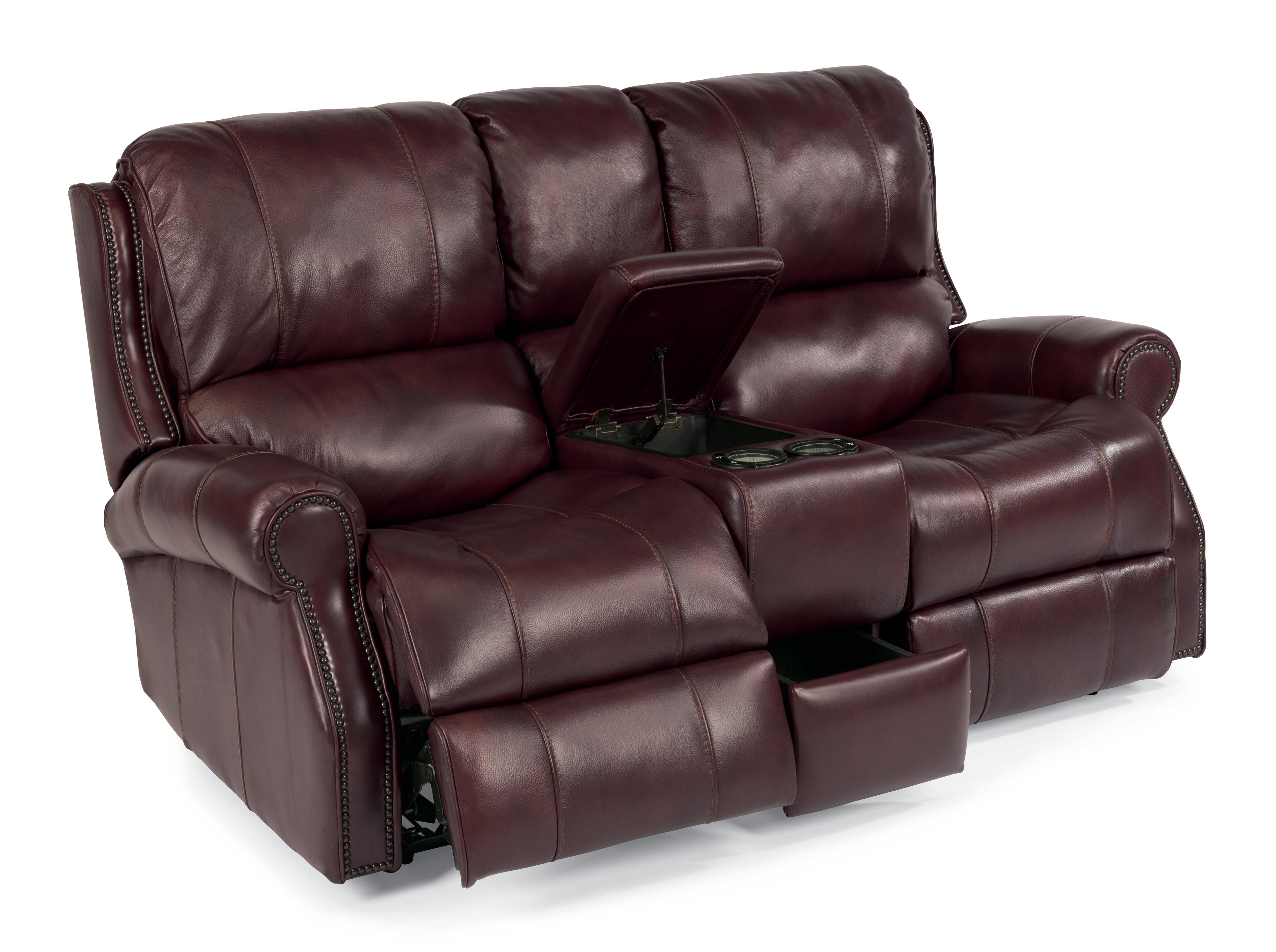 Flexsteel Latitudes-Miles Power Reclining Loveseat with Console - Item Number: 1533-604P