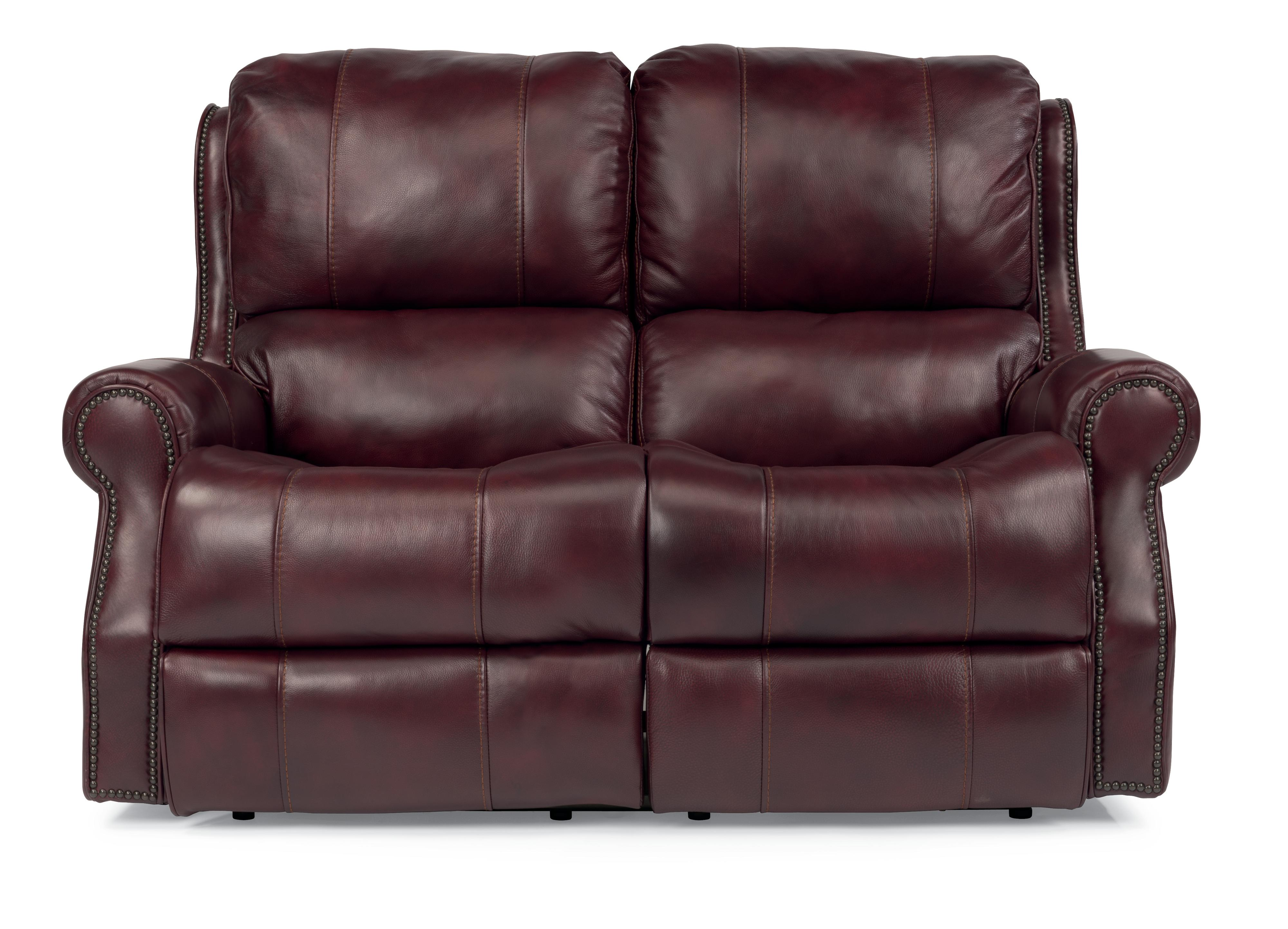 Flexsteel Latitudes-Miles Power Reclining Leather Loveseat - Item Number: 1533-60P
