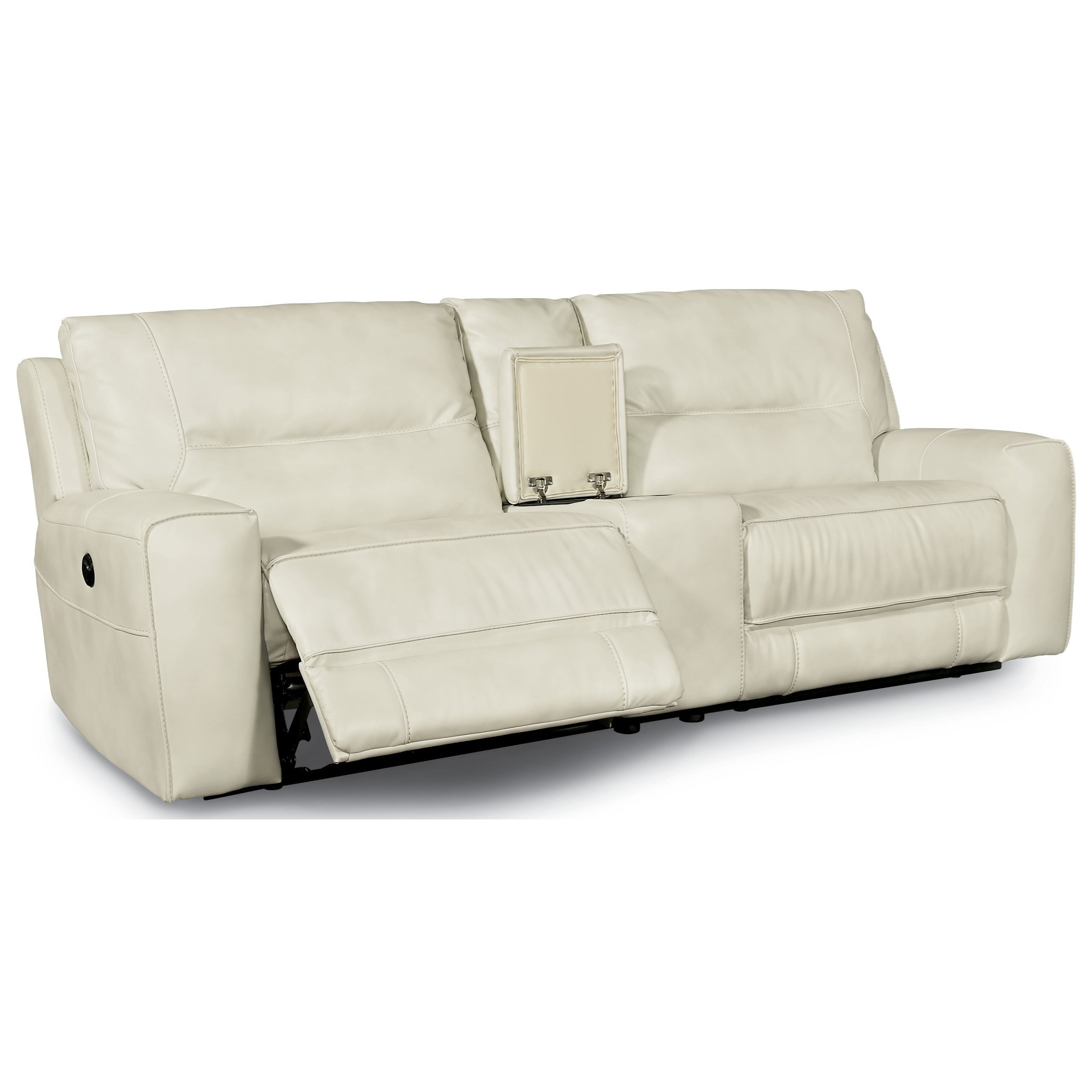 Flexsteel Latitudes-Molino Power Reclining Small Sectional with Console - Item Number: 1756-57P+1756-72+1756-58P