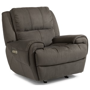 Flexsteel Latitudes-Nance Power Gliding Recliner with Power Headrest