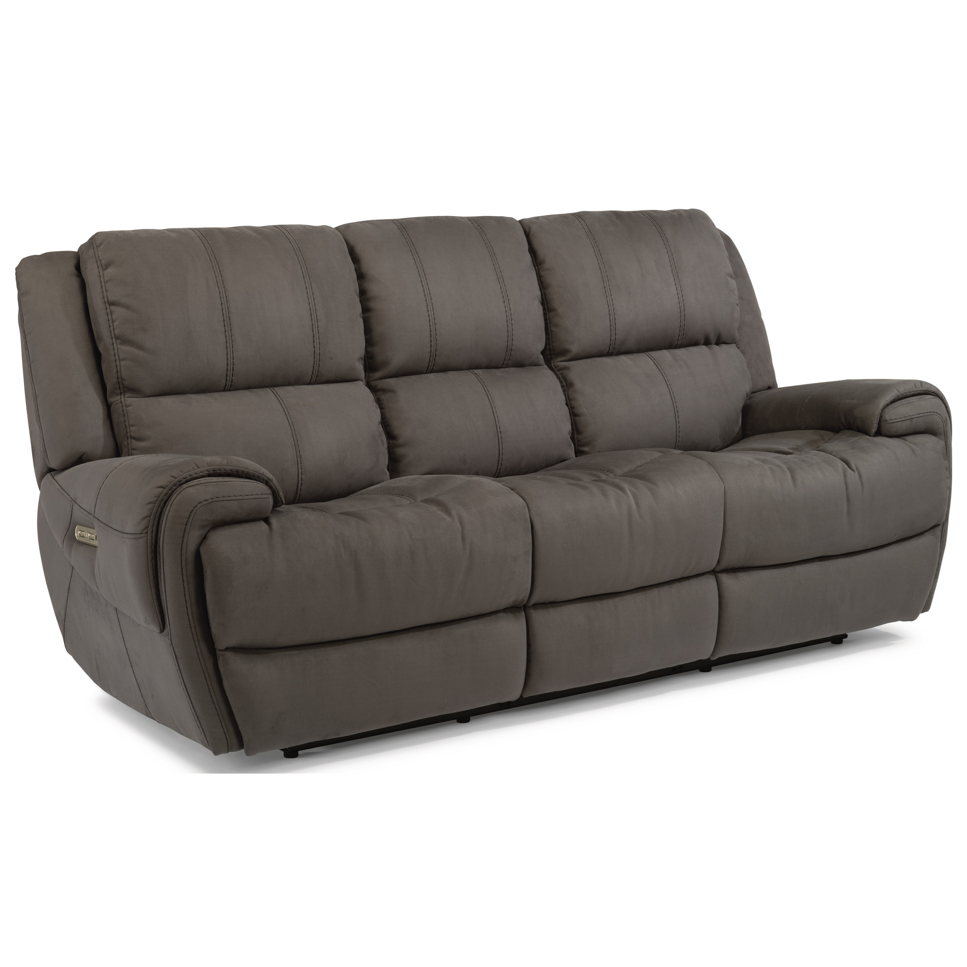 Flexsteel Latitudes Nance Casual Power Reclining Sofa With Power Headrests And Usb Ports Reeds Furniture Reclining Sofas