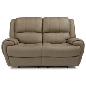 Flexsteel Latitudes-Nance Power Reclining Loveseat with Power Headrest