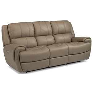 Flexsteel Latitudes-Nance Power Reclining Sofa with Power Headrests