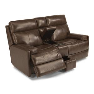 Flexsteel Latitudes-Nathan Power Reclining Loveseat w/ Console