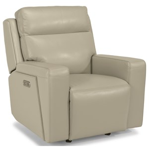 Flexsteel Latitudes-Niko Power Gliding Recliner with Power Headrest