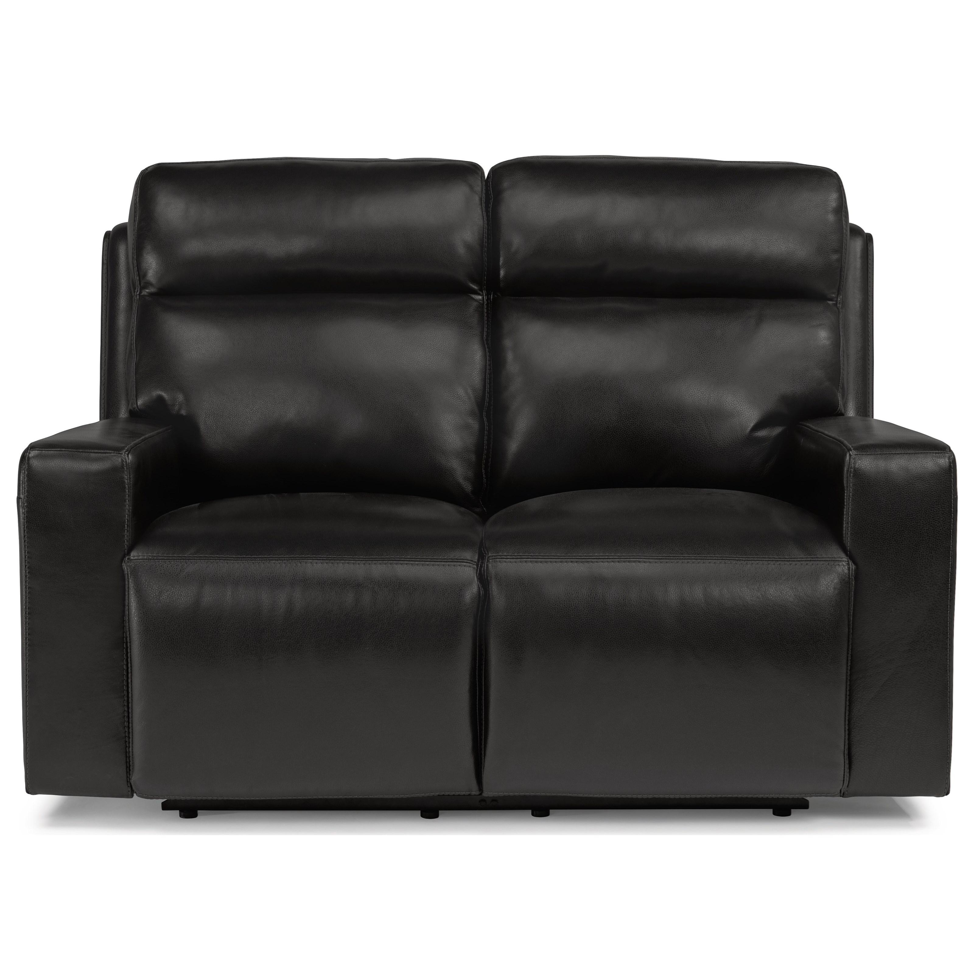 Flexsteel Electric Sofa: Flexsteel Latitudes-Niko Contemporary Power Reclining