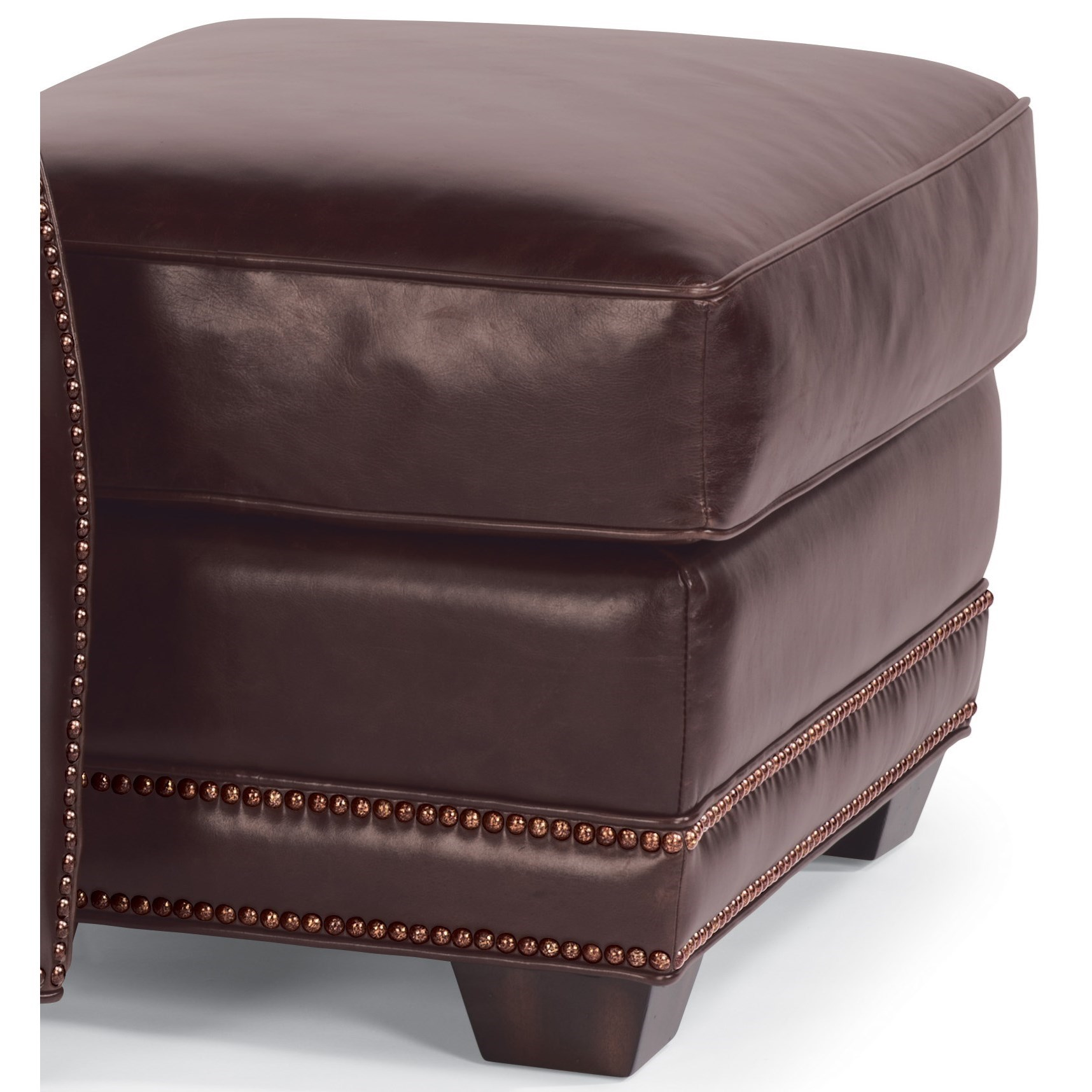 Flexsteel Latitudes-Raleigh Leather Ottoman  - Item Number: 1260-08