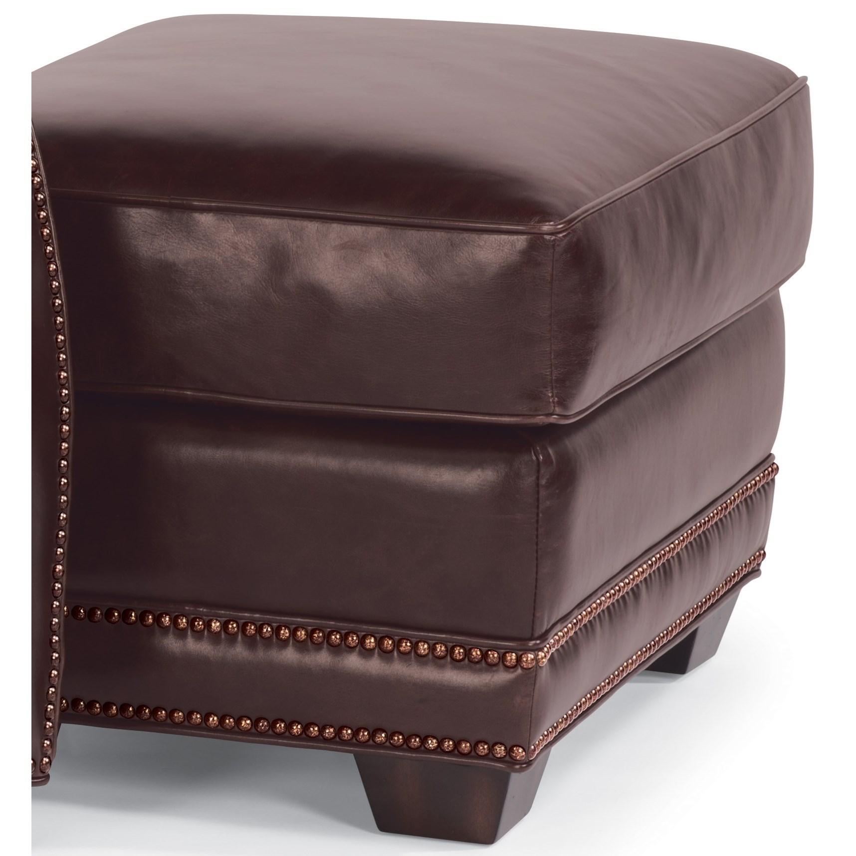Flexsteel Latitudes-Raleigh Leather Ottoman  - Item Number: 1260-08