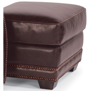Flexsteel Latitudes-Raleigh Leather Ottoman