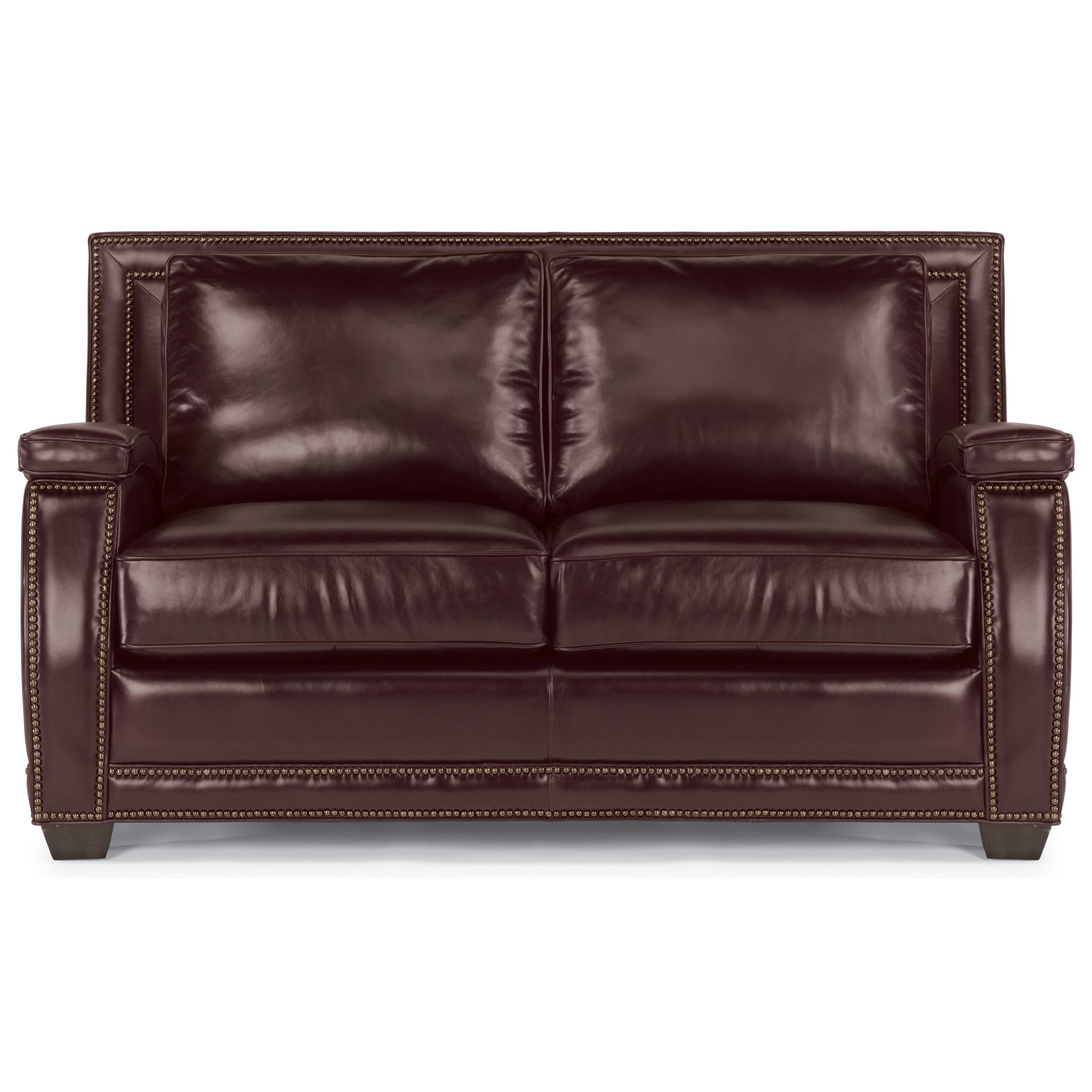 Flexsteel Latitudes-Raleigh Leather Loveseat  - Item Number: 1260-20