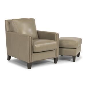 Flexsteel Latitudes-Reuben Chair & Ottoman Set