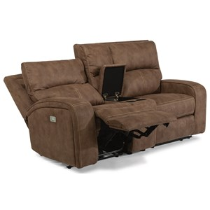 Flexsteel Latitudes-Rhapsody Power Reclining Loveseat w/ Power Headrests