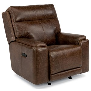 Flexsteel Latitudes-Sienna Power Gliding Recliner with Power Headrest