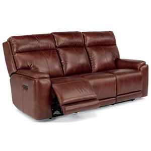 Flexsteel Latitudes-Sienna Power Reclining Sofa with Power Headrest